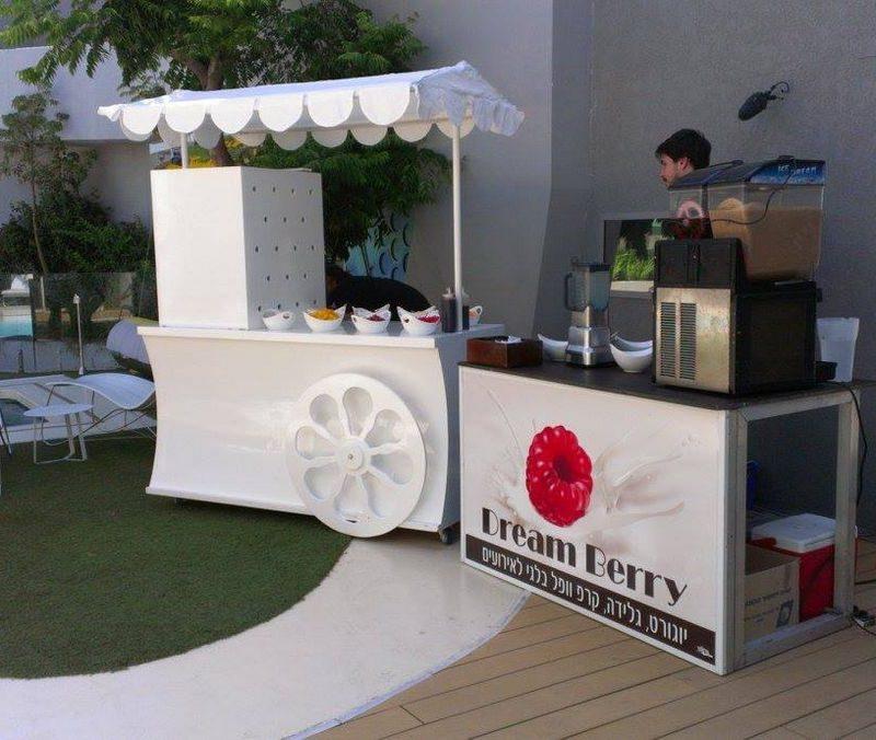 עמדת גלידות באירוע